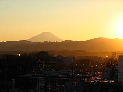 THEモール・みずほ16から見た富士山