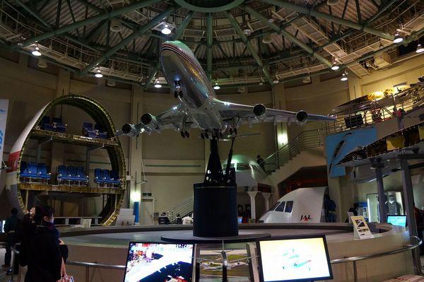 航空科学博物館内部