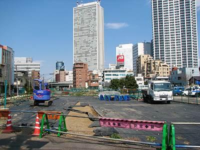 雑司ヶ谷駅周辺の工事の状況