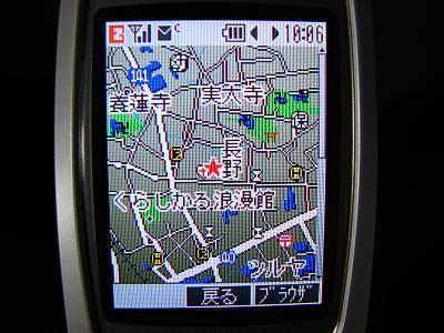 ココセコム 携帯電話からの位置情報確認