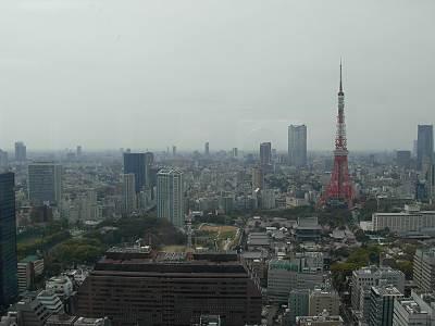 世界貿易センタービル展望台から東京タワー方面