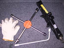 タイヤ交換に使用した工具