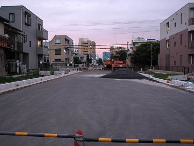 所沢村山線道路築造工事状況その1