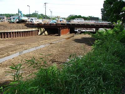 清瀬橋旧河道の土はどこに?