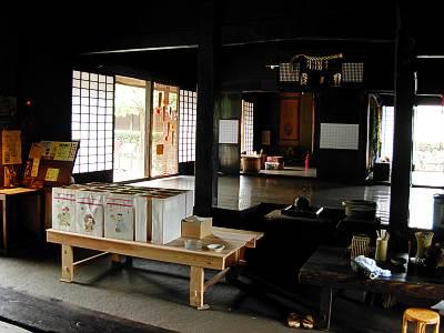 旧島田家住宅の中