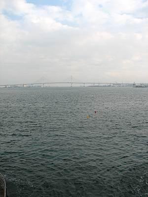 臨港パークから見た横浜ベイブリッジ