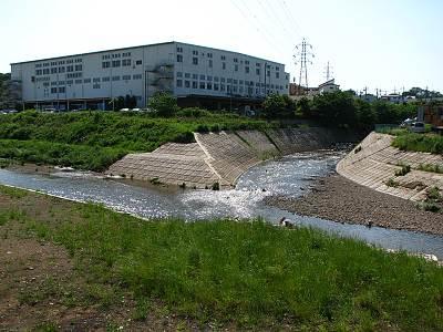 東川が柳瀬川に合流する地点