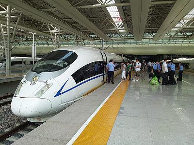 上海虹橋駅での和諧号