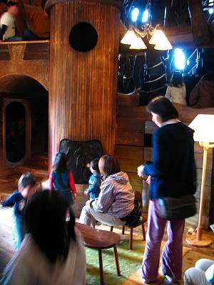 ムーミン屋敷の内部