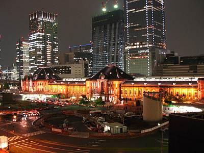 丸ビル5Fから見た東京駅