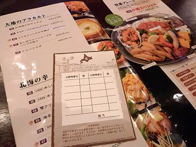 小樽食堂の注文の仕方