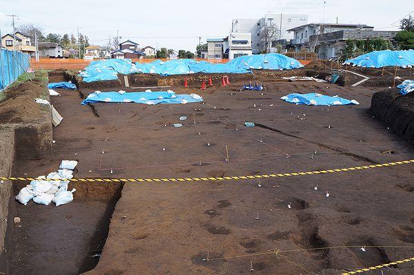 敷地の遺跡調査