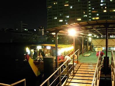 晴海朝潮小型船乗り場の月島もんじゃ屋形船