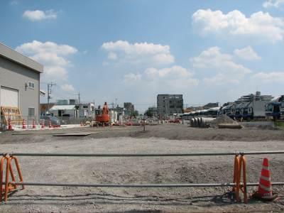東所沢の道路工事