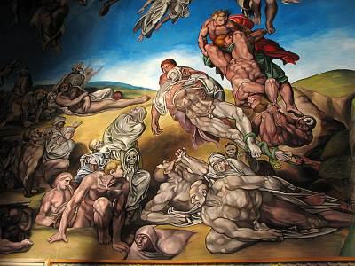 伊香保のシスティーナ礼拝堂の壁画 地獄に落ちる人