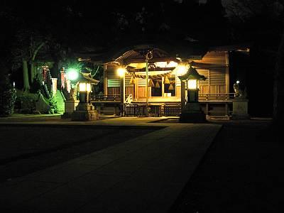 城山神社の夜