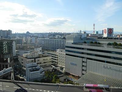 そごう横浜店の屋上からの見た横浜駅方面
