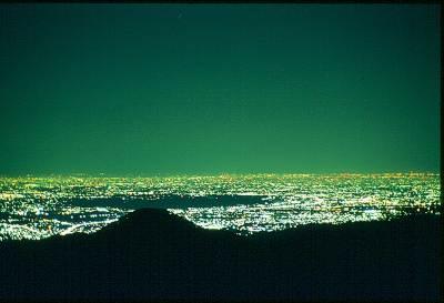 東京都青梅市御岳山からの夜景(20年前)