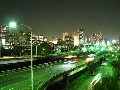 大井北埠頭歩道橋からの夜景