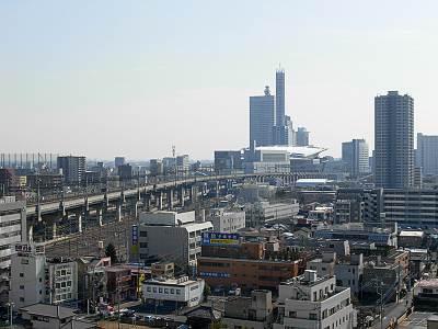 そごう大宮店屋上からの展望(さいたま新都心方面)