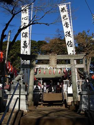 六所神社(所沢市)の鳥居