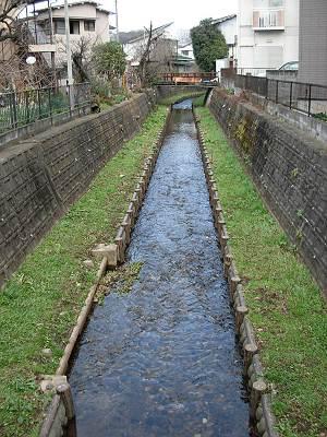 東川第3流入立坑の下流