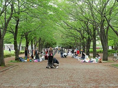 府中の森公園フリーマーケット