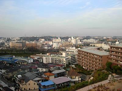 横浜市戸塚区吉田町あたりからの風景