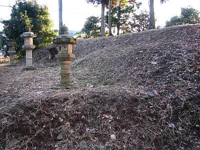 山口城址の土塁