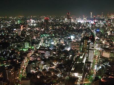 恵比寿ガーデンプレイス38Fからの夜景
