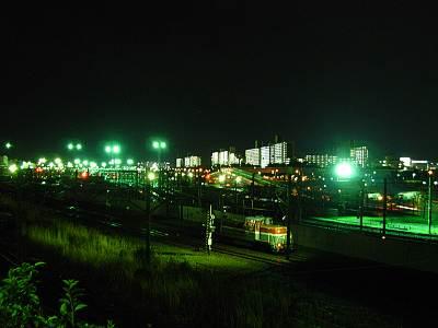 大井北部陸橋から見たJRの線路