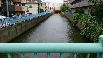 涙橋から見た立会川