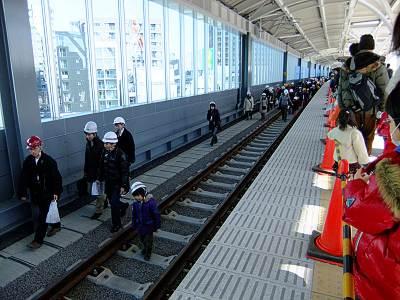 新しい石神井公園駅の上りホーム