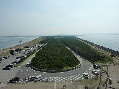 富津岬の展望台から陸側方面展望