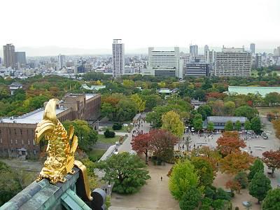 大阪城からの展望(しゃちほこ入り)