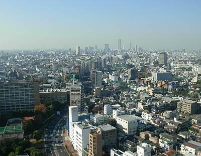 文京シビックセンター展望ラウンジから見たサンシャイン60方面