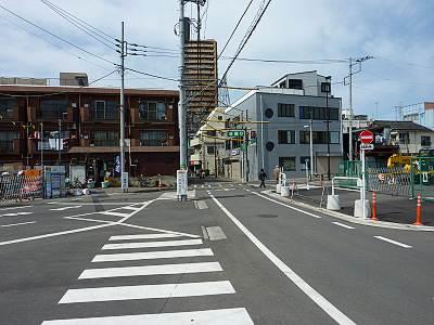 環状5の1号線と池袋東通りの交差部