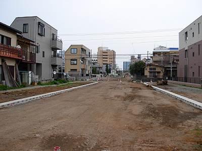 所沢村山線築造工事 所沢駅西口方面
