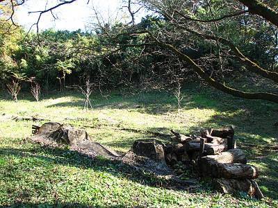 狭山富士頂上付近から崩落した部分の残骸?