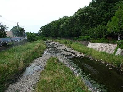 梅坂橋から空堀川下流を望む