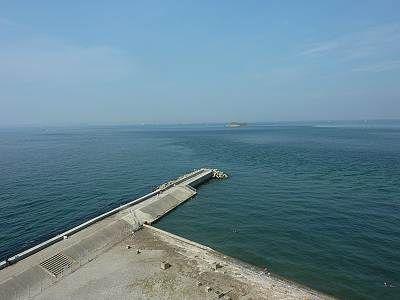 富津岬の展望台から海側展望