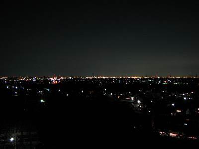 おしゃもじ山からの夜景