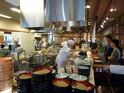 丸亀製麺所沢東店のセルフ形式