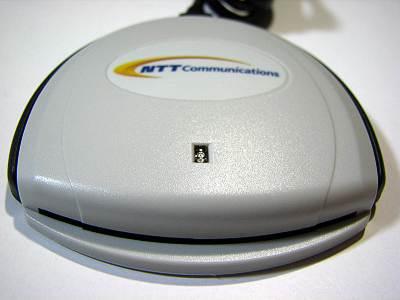 NTTコミュニケーションズ  SCR3310-NTTCom カード挿入口