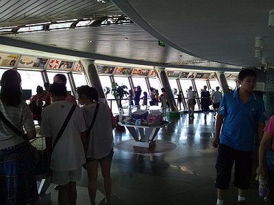 中央電視塔の屋内展望フロア
