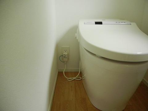 トイレコンセント壁奥