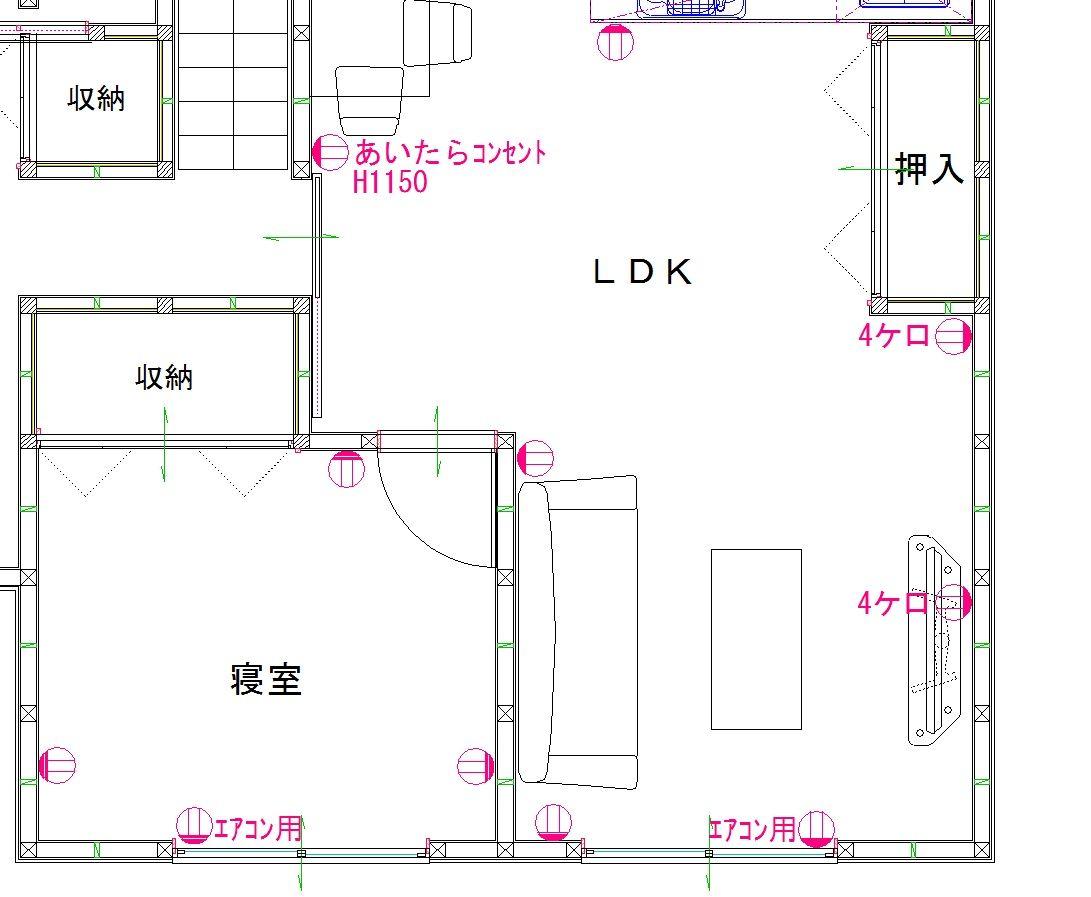 新築住宅の電気配線。~コンセント計画編~ : 電気屋さんが ...