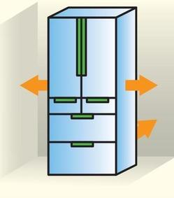 冷蔵庫隙間間隔