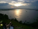 トンレサップ湖の夕陽