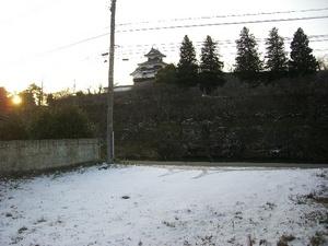 雪の白河城